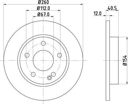 Mintex MDC1034 - Bremžu diski interparts.lv