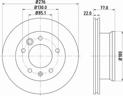 Mintex MDC1037C - Bremžu diski interparts.lv