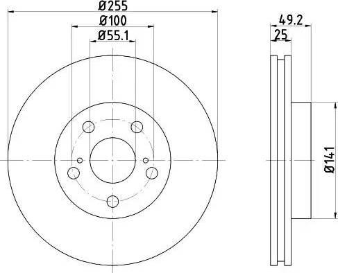 Mintex MDC1025 - Bremžu diski interparts.lv