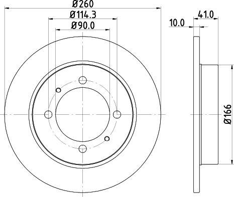 Mintex MDC1021C - Bremžu diski interparts.lv