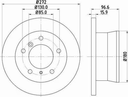 Mintex MDC1075 - Bremžu diski interparts.lv