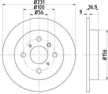 Pemebla JAPDP-603 - Bremžu diski interparts.lv