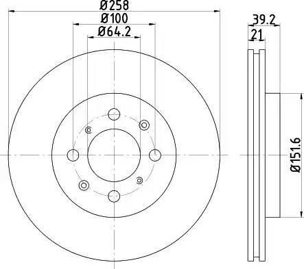 Mintex MDC1897 - Bremžu diski interparts.lv