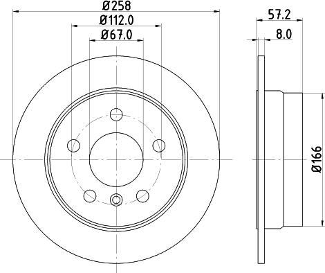 Mintex MDC1846C - Bremžu diski interparts.lv