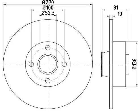 Mintex MDC1859 - Bremžu diski interparts.lv