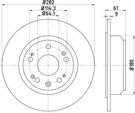 Mintex MDC1858 - Bremžu diski interparts.lv