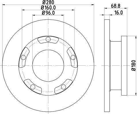 Mintex MDC1808C - Bremžu diski interparts.lv