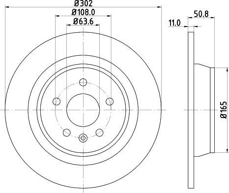 Mintex MDC1810C - Bremžu diski interparts.lv
