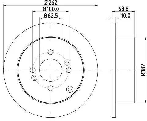 Mintex MDC1818 - Bremžu diski interparts.lv