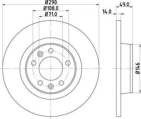 Mintex MDC1836 - Bremžu diski interparts.lv