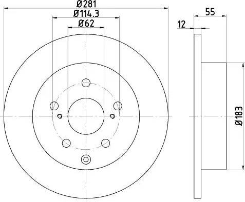 Mintex MDC1826 - Bremžu diski interparts.lv