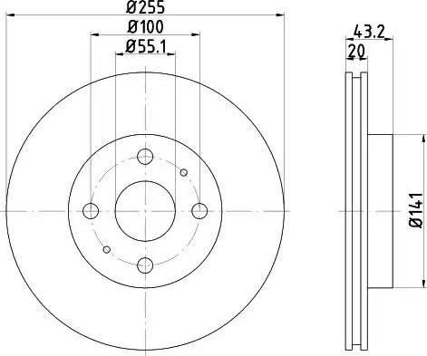 Mintex MDC1394 - Bremžu diski interparts.lv