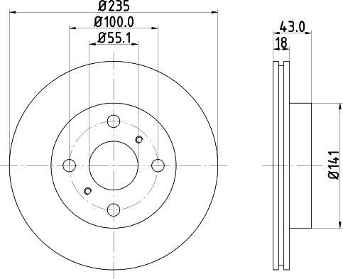 Mintex MDC1392C - Bremžu diski interparts.lv