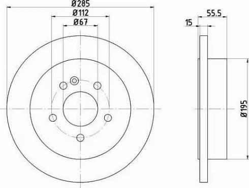 Mintex MDC1360 - Bremžu diski interparts.lv