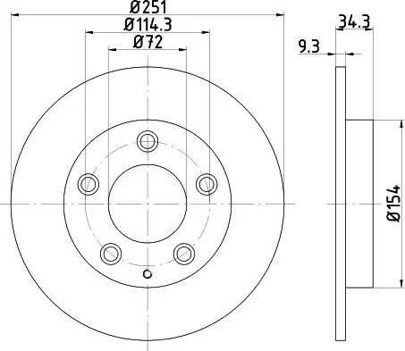 Mintex MDC1309 - Bremžu diski interparts.lv