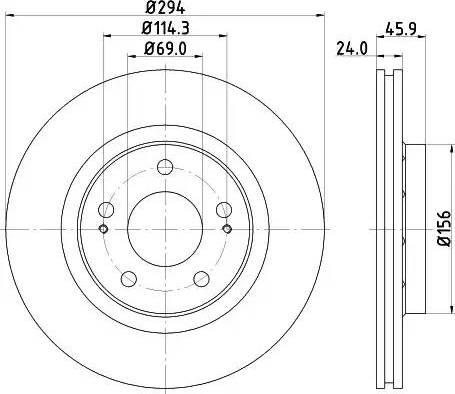 Mintex MDC1385 - Bremžu diski interparts.lv