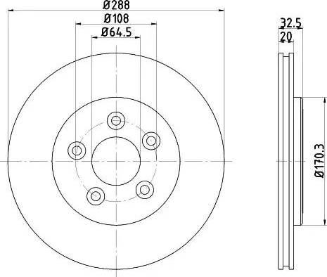 Mintex MDC1372 - Bremžu diski interparts.lv