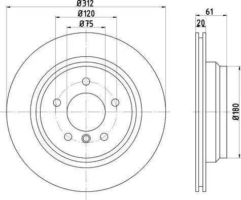 Zimmermann 150.1293.20 - Bremžu diski interparts.lv