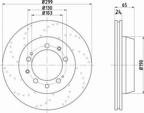 Mintex MDC1283 - Bremžu diski interparts.lv
