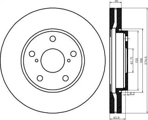 Mintex MDC1236 - Bremžu diski interparts.lv