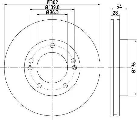 Mintex MDC1797 - Bremžu diski interparts.lv