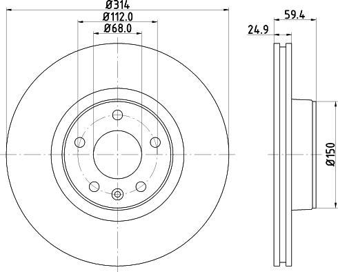 Mintex MDC1742C - Bremžu diski interparts.lv