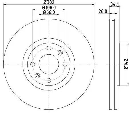 Mintex MDC1755 - Bremžu diski interparts.lv