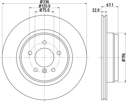 Mintex MDC1757C - Bremžu diski interparts.lv