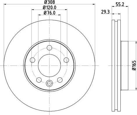 Mintex MDC1704 - Bremžu diski interparts.lv