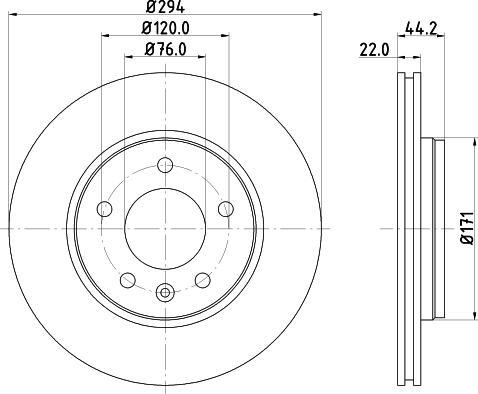 Mintex MDC1708C - Bremžu diski interparts.lv