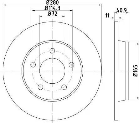 Mintex MDC1717 - Bremžu diski interparts.lv
