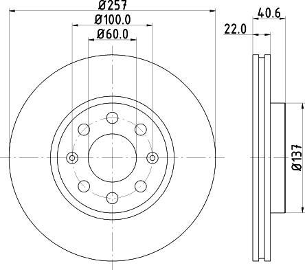 Mintex MDC1735C - Bremžu diski interparts.lv