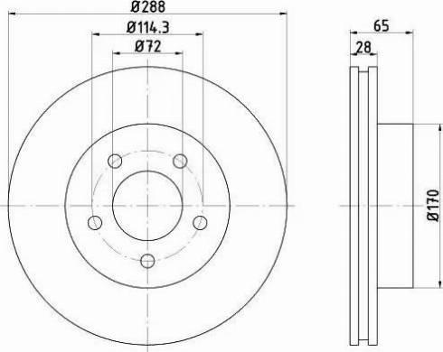 Mintex MDC1724 - Bremžu diski interparts.lv