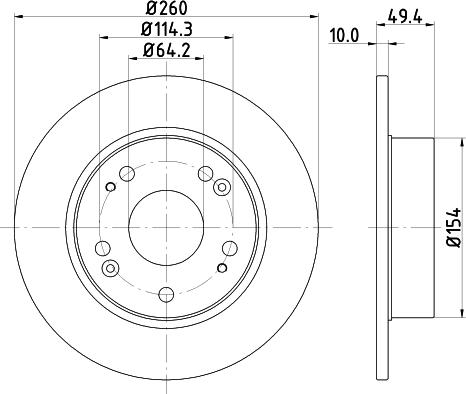 Mintex MDC1721C - Bremžu diski interparts.lv