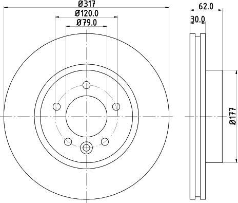 Mintex MDC1727C - Bremžu diski interparts.lv