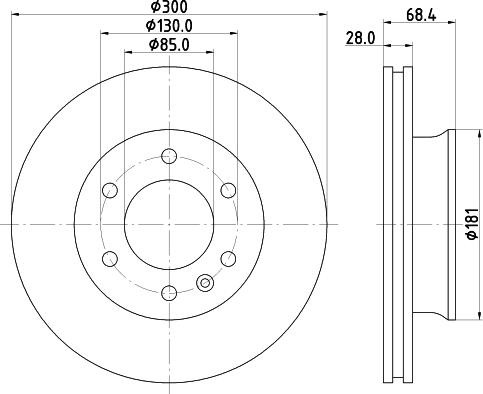 Mintex MDC1771C - Bremžu diski interparts.lv