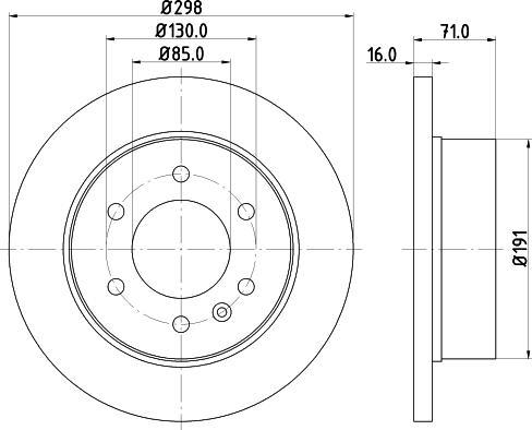 Mintex MDC1772C - Bremžu diski interparts.lv