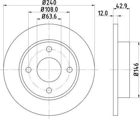 Mintex MDC844 - Bremžu diski interparts.lv