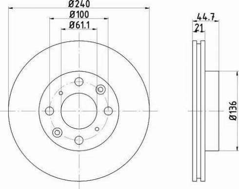 Mintex MDC847 - Bremžu diski interparts.lv