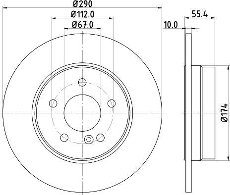 Mintex MDC854C - Bremžu diski interparts.lv