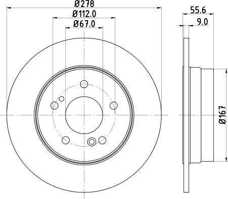 Mintex MDC855C - Bremžu diski interparts.lv
