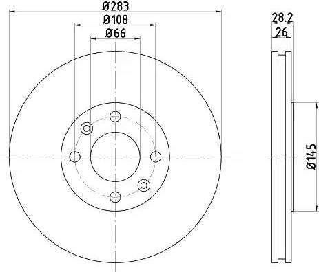 Mintex MDC869 - Bremžu diski interparts.lv