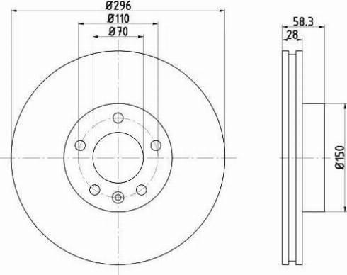 Mintex MDC865 - Bremžu diski interparts.lv