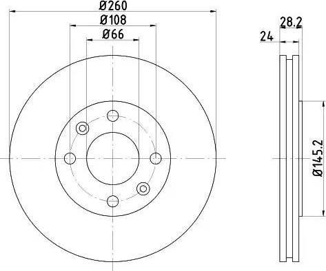 Mintex MDC868 - Bremžu diski interparts.lv
