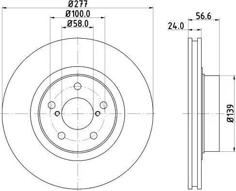 Mintex MDC804 - Bremžu diski interparts.lv