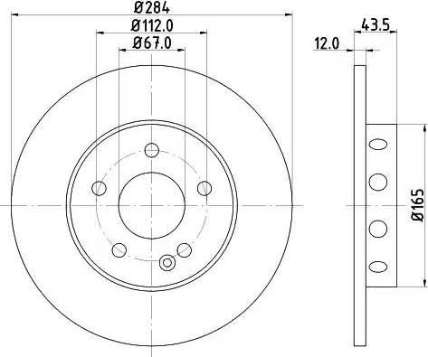 Mintex MDC806 - Bremžu diski interparts.lv