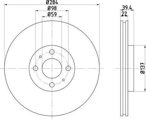 Mintex MDC808 - Bremžu diski interparts.lv