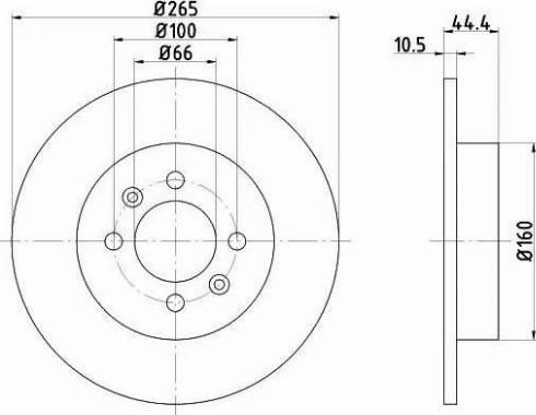 Mintex MDC815 - Bremžu diski interparts.lv