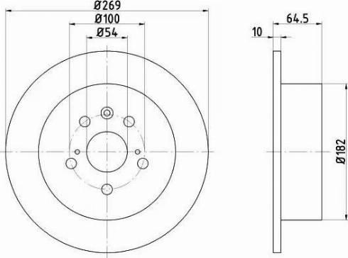 Mintex MDC883 - Bremžu diski interparts.lv