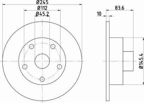 Mintex MDC830 - Bremžu diski interparts.lv